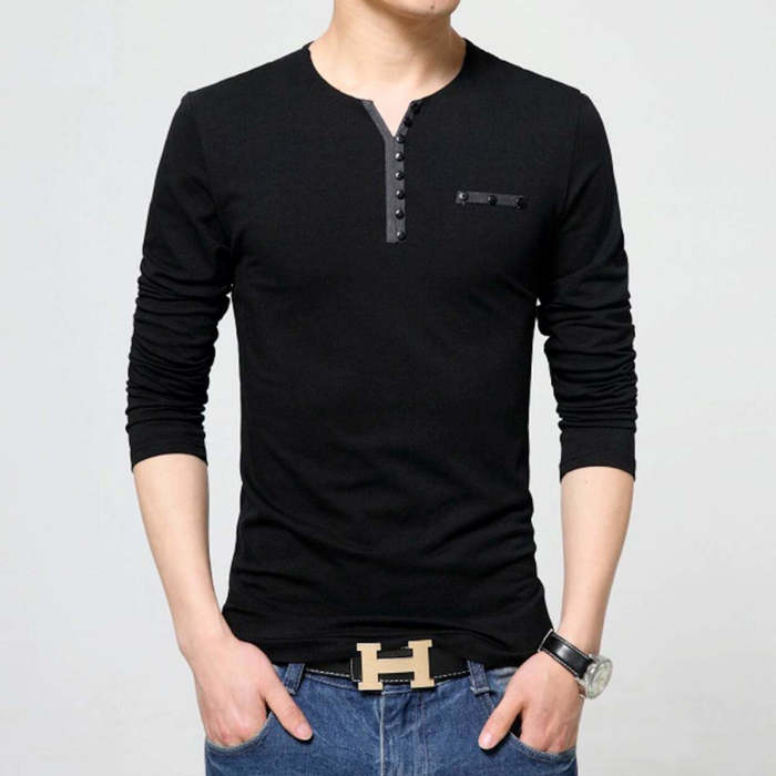 Men's Casual Top with Buttons