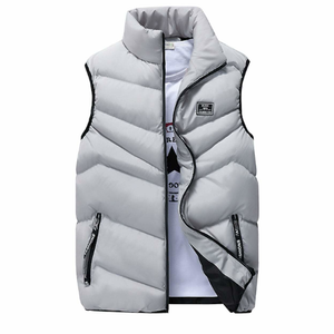 Men's Classic Black High Collar Puffer Vest-ProductPro-Mercantile Americana