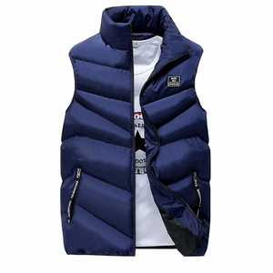 Men's High Collar Puffer Vest in Yellow-ProductPro-Mercantile Americana