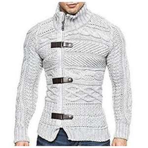 Men's High Collar Slim Fit Cardigan-ProductPro-Mercantile Americana