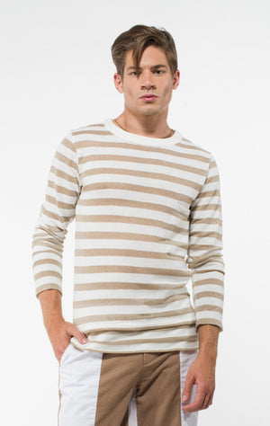 Men's Long Sleeve Gold Sweater-Uwi Twins-Mercantile Americana