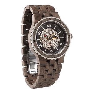 Men's Premium Self-Winding Transparent Body Walnut Wood Watches-Wilds Wood-Mercantile Americana