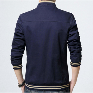 Men's Stand Collar Zipper Jacket in Navy-ProductPro-Mercantile Americana