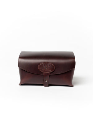 Men's Toiletry Case - Dopp Kit, Brown - Monogram-QP Collections-Mercantile Americana