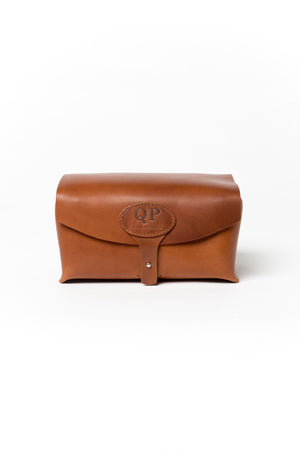 Men's Toiletry Case - Dopp Kit, Walnut - Monogram-QP Collections-Mercantile Americana