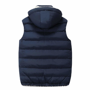 Men's Two Tone Hooded Puffy Vest in Red Wine-ProductPro-Mercantile Americana