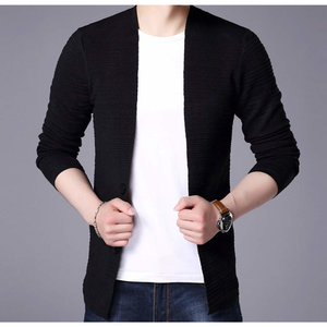 Men's V Neck Cardigan in Black-ProductPro-Mercantile Americana