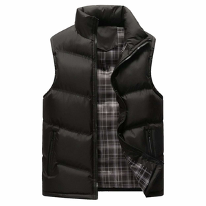 Men's Zip Up Navy Puffer Winter Vest-ProductPro-Mercantile Americana