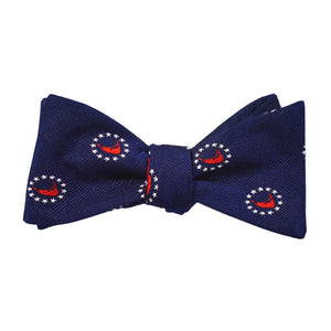 Nantucket 4th of July Bow Tie - Woven Silk-SummerTies-Mercantile Americana
