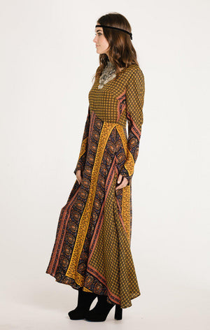 On The Horizon Long Sleeve Maxi Dress-RAGA-Mercantile Americana