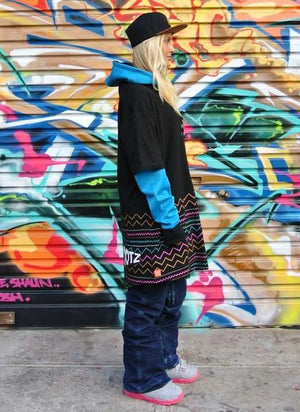 OOTZ UNISEX TALL TEE IN ELECTRIC AZTEC-MOO LAB-Mercantile Americana