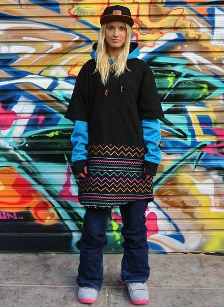OOTZ UNISEX TALL TEE IN ELECTRIC AZTEC