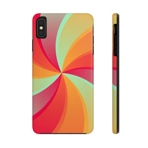 Orange Swirl - Case Mate Tough Phone Cases-Printify-Mercantile Americana