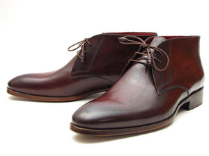 Paul Parkman Men's Chukka Boots Brown & Bordeaux (ID#CK43E8)-Paul Parkman Handmade Shoes-Mercantile Americana