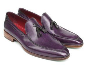 Paul Parkman Men's Tassel Loafer Purple Leather (ID#083-PURP)-Paul Parkman Handmade Shoes-Mercantile Americana