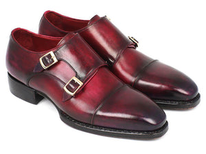Paul Parkman Triple Leather Sole Hand-Welted Cap Toe Monkstraps (ID#LX77MNK)-Paul Parkman Handmade Shoes-Mercantile Americana