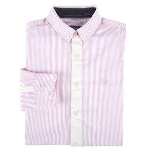 Pink Bengal Stripe Long Sleeve Button-down Shirt-Andy & Evan-Mercantile Americana