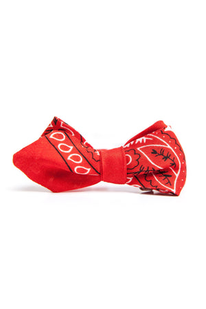 Red Bandana Bowtie-QP Collections-Mercantile Americana