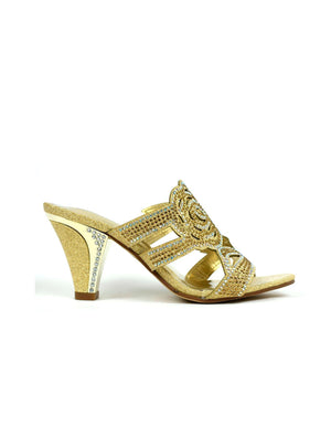 Rose for Your Feet Heel Gold-Beta Shoes Ltd.-Mercantile Americana