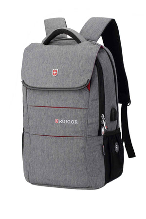RUIGOR CITY 64 Laptop Backpack Grey-Swissruigor-Mercantile Americana