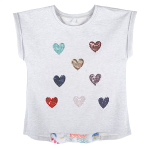 Sequins Heart T-shirt-Andy & Evan-Mercantile Americana