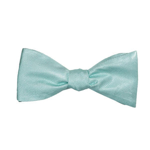Solid Color Bow Tie - Light Green, Woven Silk, Adult-SummerTies-Mercantile Americana