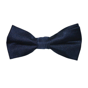 Solid Color Bow Tie - Navy, Woven Silk, Kids Pre-Tied-SummerTies-Mercantile Americana