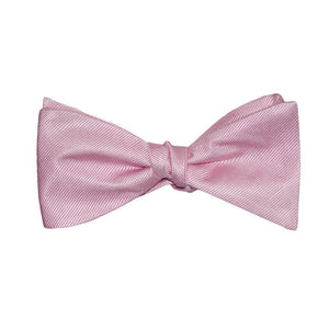 Solid Color Bow Tie - Pink, Woven Silk, Adult-SummerTies-Mercantile Americana