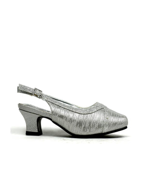 Square Toe Evening Sandal Silver-Beta Shoes Ltd.-Mercantile Americana