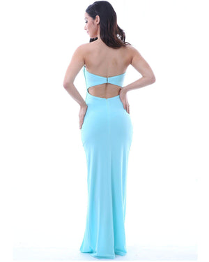 Strapless Evening Dress - Light Blue-SKIVA-Mercantile Americana