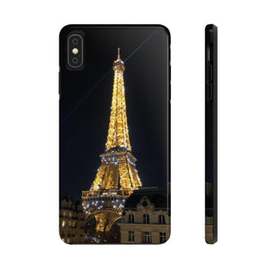 The Eiffel Tower at Night - Case Mate Tough Phone Cases-Printify-Mercantile Americana