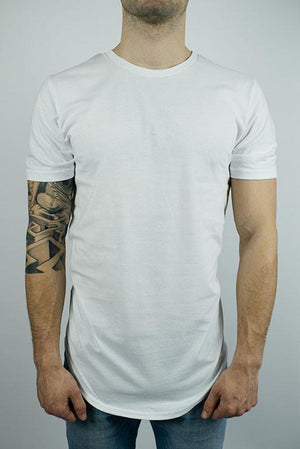 The Glacier Curved Hem T-Shirt in White-Craft of Lyfe Clothing Inc-Mercantile Americana