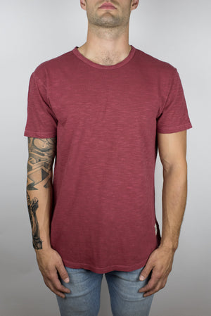 The Start Tee in Dark Red-Craft of Lyfe Clothing Inc-Mercantile Americana