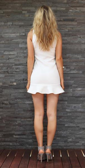 TING-A-LING Tiffany Dress - White-MOO LAB-Mercantile Americana