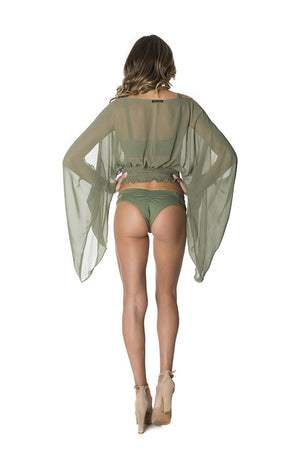 Voyage Top in Olive Green-lybethras-Mercantile Americana