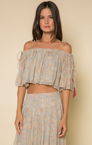 Whispered Dreams Tie Shoulder Crop Top-RAGA-Mercantile Americana