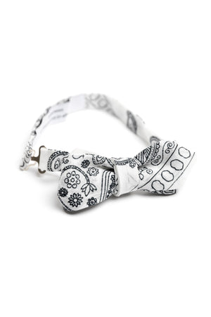 White Bandana Bowtie-QP Collections-Mercantile Americana