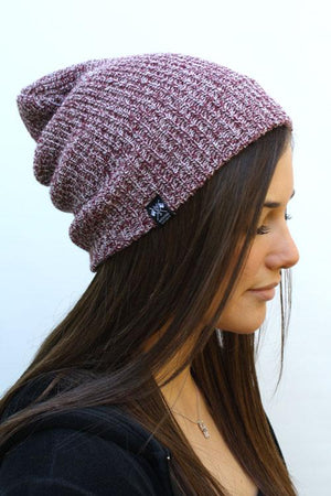 WKND Label Beanie (Burgundy)-Weekend Society-Mercantile Americana