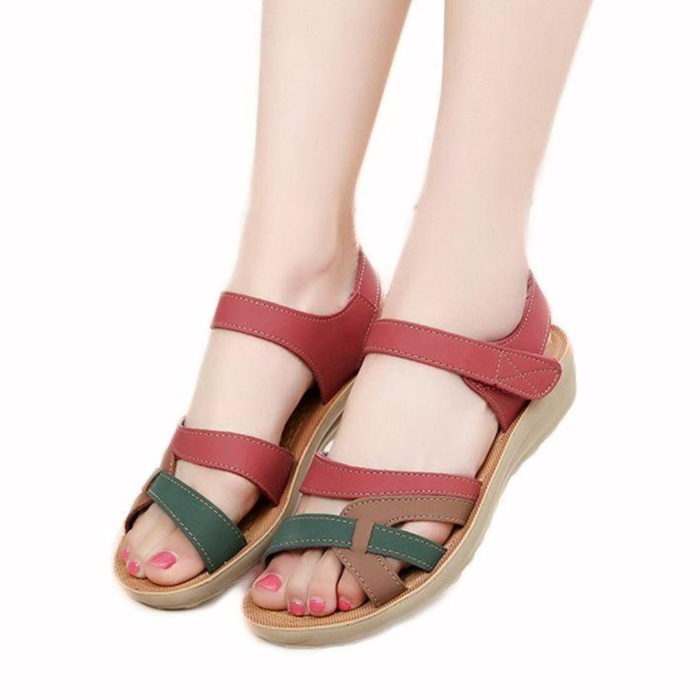 Women's Casual Brown Ankle Strap Sandals