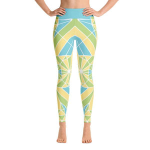 YOGA LEGGINGS – EMERALD LEAP-Philipp Sidler-Mercantile Americana