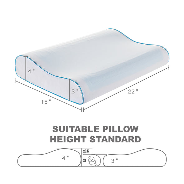 Dimentions of gel pillow