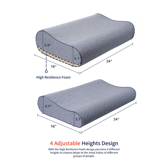 dimensions of adjustable pillow