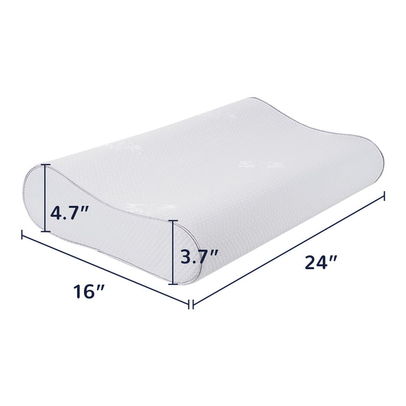 dimensions of contour pillow