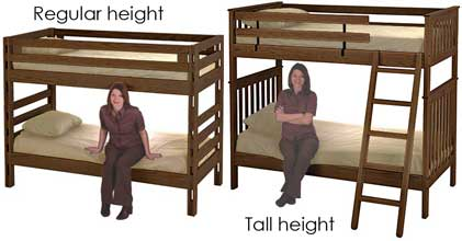 Bunk bed height