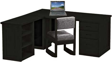 Desk with desk return