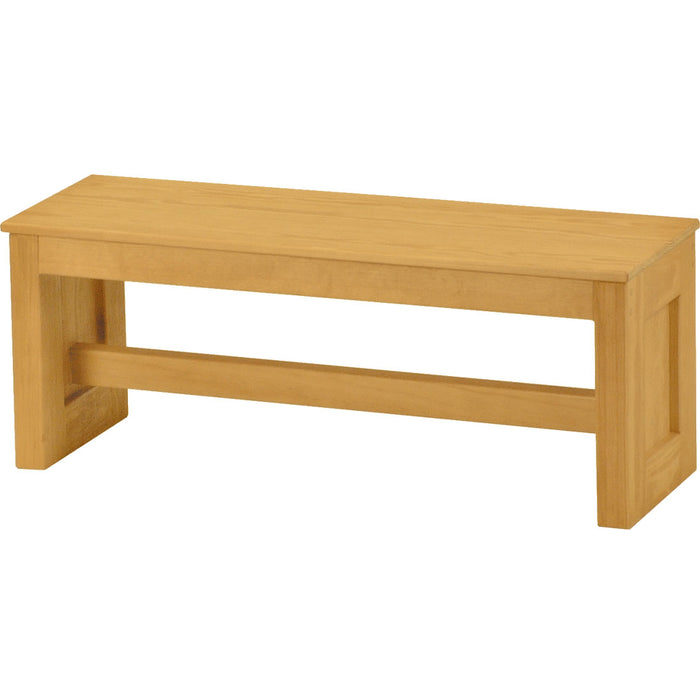 Wood top bench, 42in wide