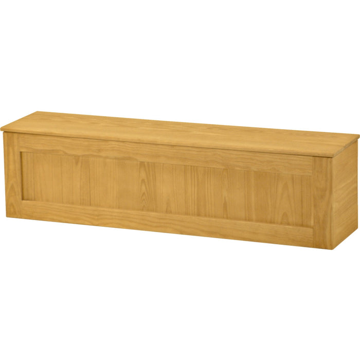 Storage bench, wood top, 62in wide