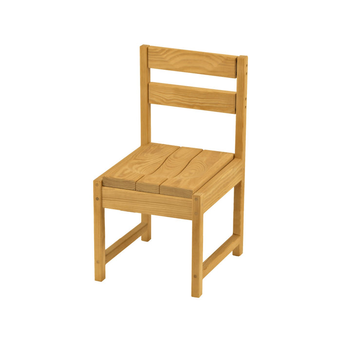 Dining chair, narrow, wood seat and back