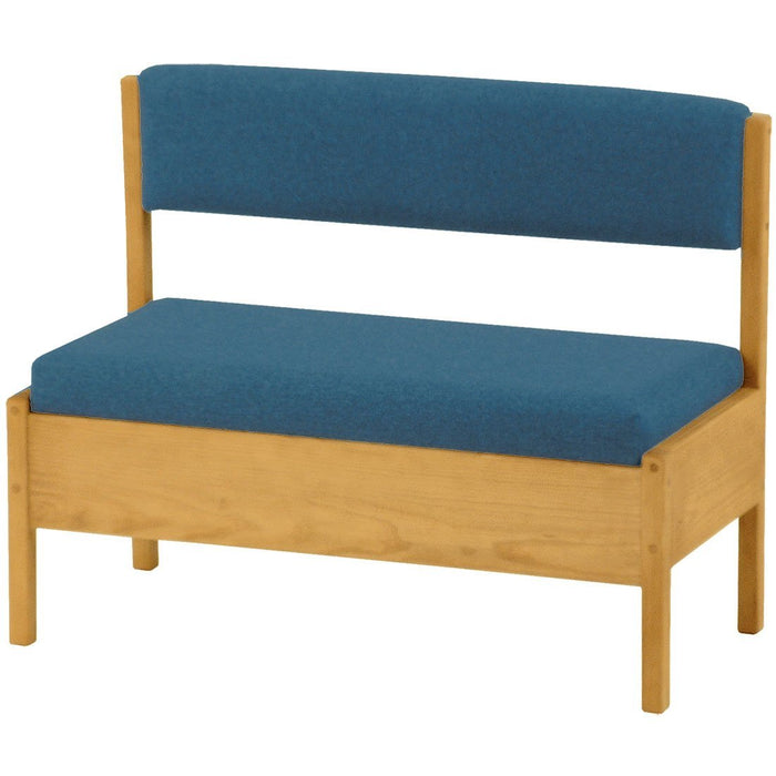Storage bench with back, 42in wide - Foundation fabric