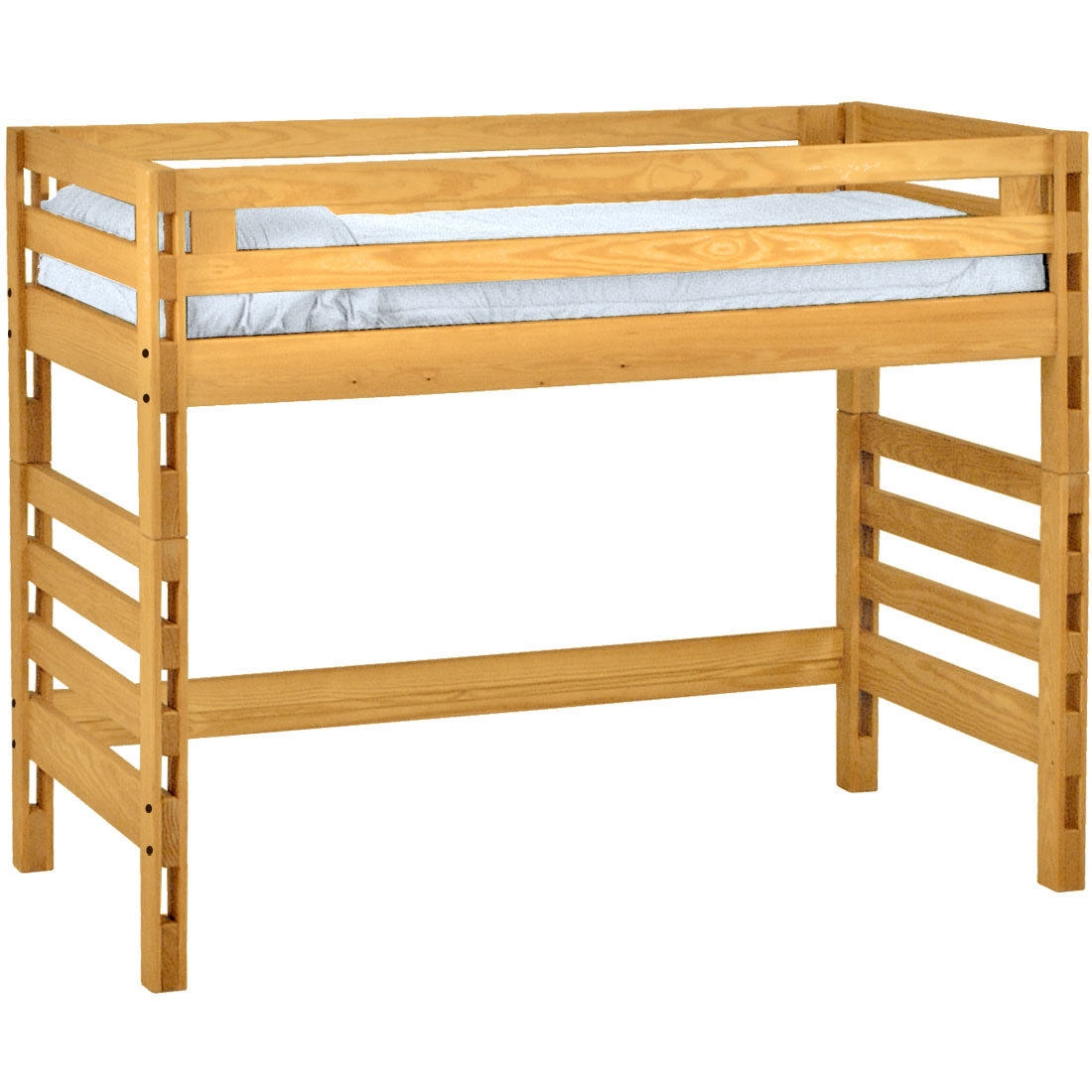 Ladder End Loft Bed Twin Size Crate Designs Furniture